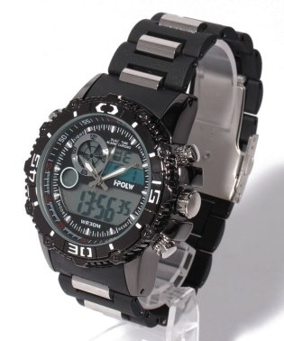【HPFS】アナデジ アナログ&デジタル腕時計 HPFS622 メンズ腕時計 デジアナ