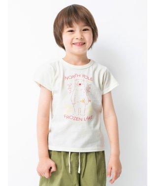 シロクマグラフィック半袖Tシャツ