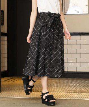 ◆◆【WEB・店舗限定】【Tricolore】【ウォッシャブル】コットンウインドペンチェックスカート