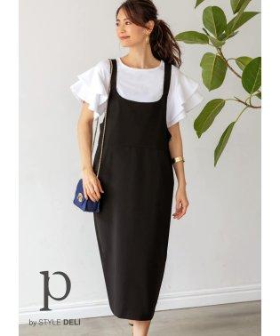 【Psize】ミディ丈ジャンパースカート