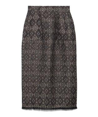 小紋ジャガードタイトスカート