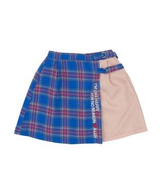 ニコ☆プチ6月号掲載   チェックドッキングスカート
