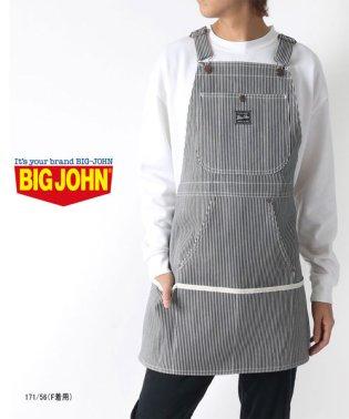 【BIG JOHN】 ビッグジョン エプロン ヒッコリー ストライプ ブランド