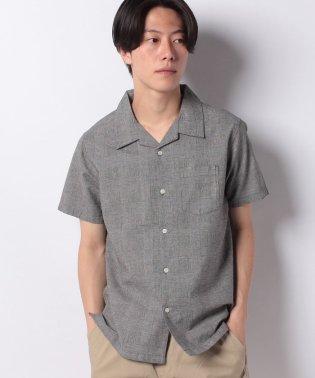 【BLUE STANDARD】リネンミックスオープンカラーシャツ