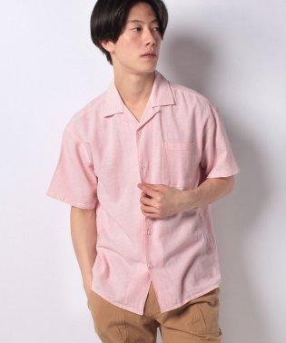 【BLUE STANDARD】リネンミックスパナマ半袖シャツ