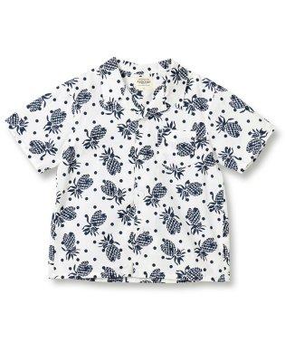 パイナップル柄オープンカラー半袖シャツ(90~140cm)