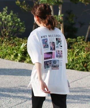 オーバーサイズバックプリントフォトTシャツ