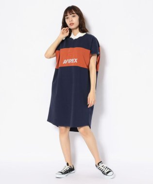 【WEB&DEPOT限定】ラガーシャツ ワンピース/RUGBY SHIRT ONE-PIECE