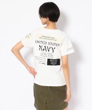 ステンシル&パッチ ネイビーTシャツ/STENCIL & PATCHES T-SHIRT