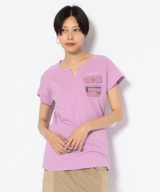#キーネックポケットティーシャツ/ NEW KYE NECK POCKET T-SHIRT