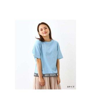 裾リブロゴ Tシャツ