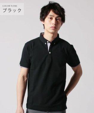 (バイヤーズセレクト) Buyer's Select ボタンダウン鹿の子半袖ポロシャツ