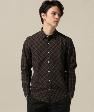 フロントバイアスチェックシャツ