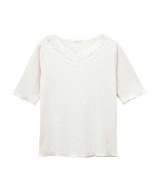 RETRO GIRL VネックレースTシャツ SB193-WC031