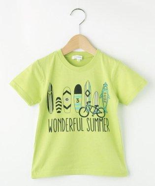 【90cm~160cm】サーフボードプリントTシャツ