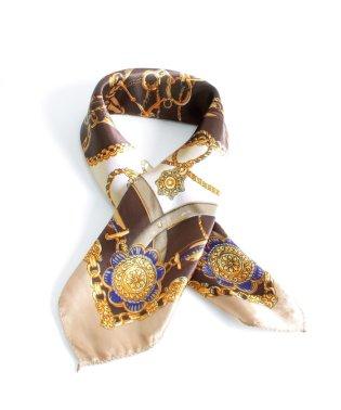 小判 正方形 スカーフ | グランディール ミニスカーフ プチスカーフ ストール 薄手