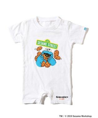 <BABY>FUJI ROCK FESTIVAL'19 × BEAMS / SESAME STREET クッキーモンスター ロンパース (80cm)
