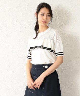 【LOVELESS】WOMEN メッシュラインニット