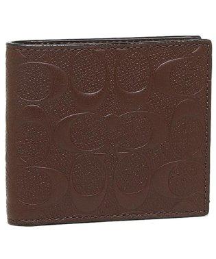 コーチ 財布 アウトレット COACH F75363 BLK シグネチャー クロスグレインレザー メンズ 二つ折り財布