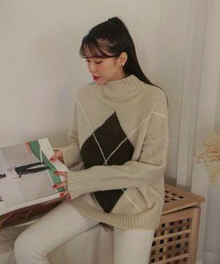 SONYUNARA(ソニョナラ)アーガイルセーター