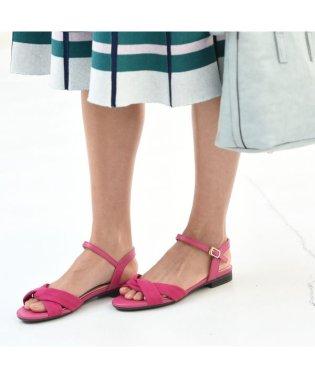 【19.5~27cm】[ラクチンきれいサンダル]足先やわらかフラットヒールサンダル(2.0cmヒール)