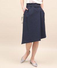 【ベルト付き】アシンメトリーラップスカート