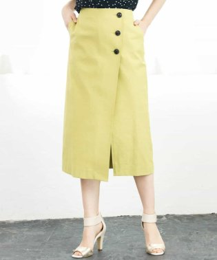 【洗える】ラップ風タイトスカート