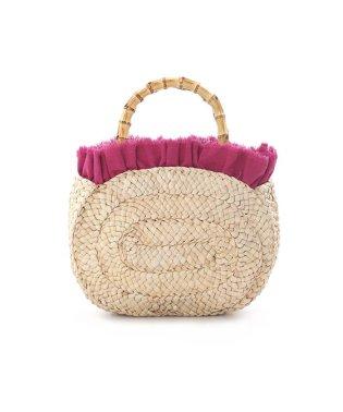 《Maglie collection》バンブーハンドル籠バッグ