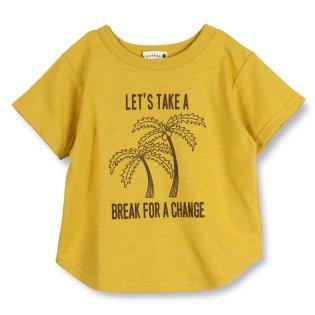 【吸水速乾】ヤシの木プリント半袖Tシャツ(80~150cm)