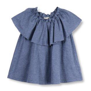 【吸水速乾】胸元フリル半袖Tシャツ