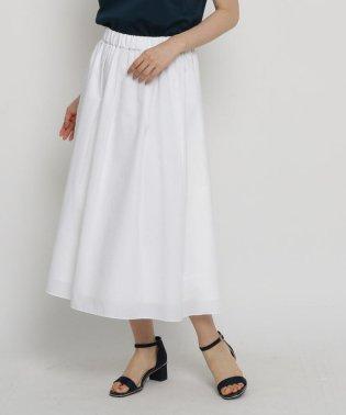【洗える】タックフレアロングスカート