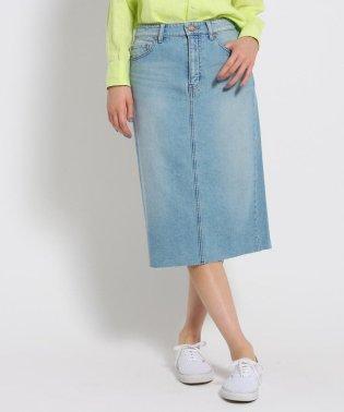 【洗える】10.5ozカットオフデニム タイトスカート