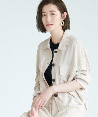 【WEB限定】麻レーヨンシャツジャケット