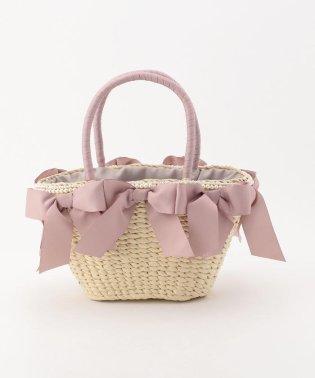 【美人百花5月号掲載】リボン&パールかごバッグ