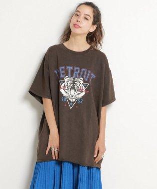 USED風トラプリントTシャツ