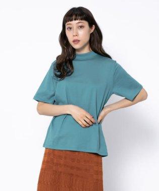 オーガニックコットンハイネックTシャツ(5分袖)