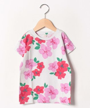花柄半袖Tシャツ
