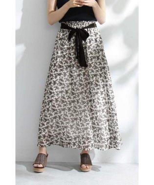 ◆《EDIT COLOGNE》モノトーンシフォンスカート