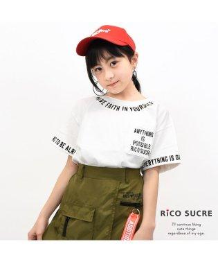 襟プリントTシャツ
