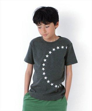 フライスサークルスタープリント半袖Tシャツ