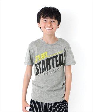 STARTEDロゴ半袖Tシャツ
