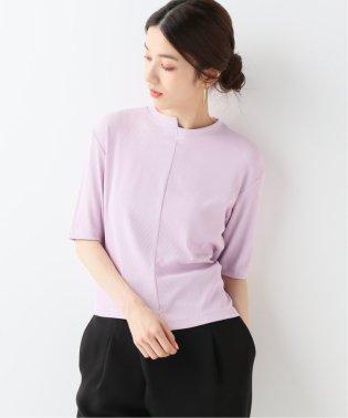AMOMENT ブロックテレコ5分袖 Tシャツ