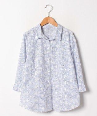 フラワー&ストライプシャツ