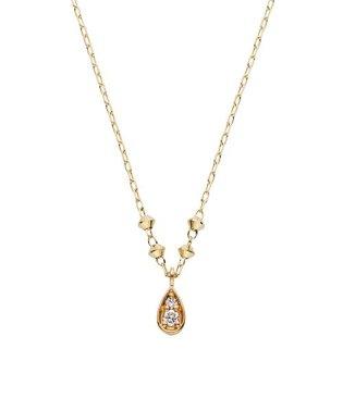 K10イエローゴールド ドロップダイヤモンドネックレス