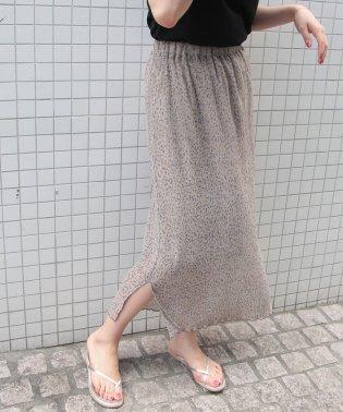 ヨウリュウ風フラワープリントスカート