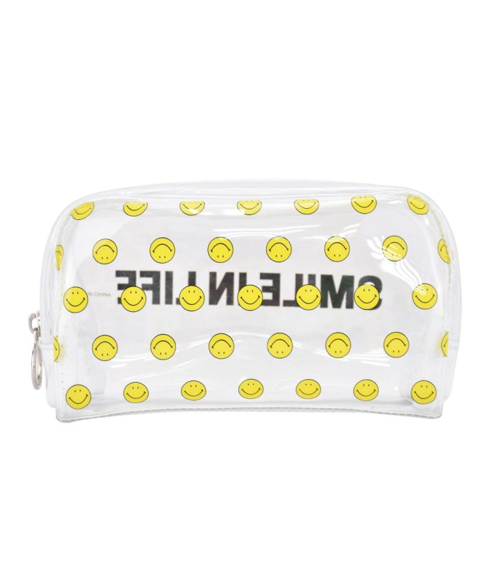 (RUNNER/ランナー)スマイル ペンケース 筆箱 レディース 女子 大人 高校生 透明 大容量 PVC ファスナー キャラクター 女の子/レディース その他