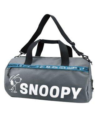 SNOOPY スヌーピー ロゴライン ボストンバッグ