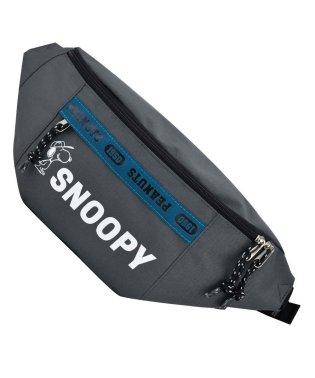 SNOOPY スヌーピー ロゴライン ボディバッグ ウエストバッグ