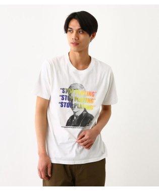 グラデーション ロゴ フォト Tシャツ