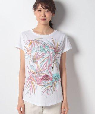 ラインストーンプリントTシャツ・カットソー